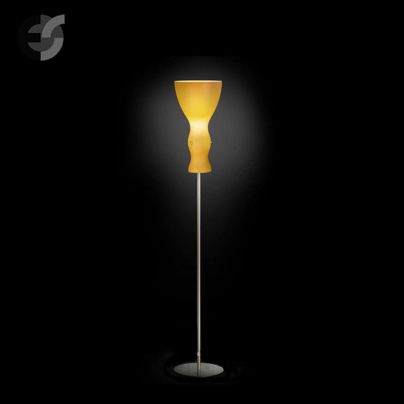 Осветително тяло - Лампион SCHERZO, метал, стъкло, жълт, хром, Е27