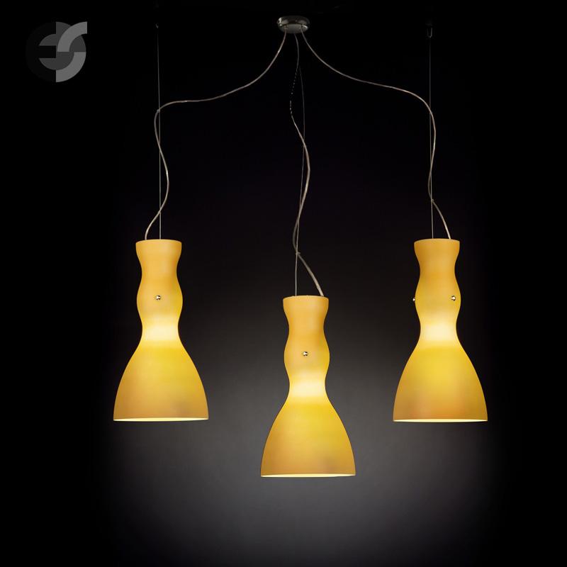 Осветително тяло - Полилей SCHERZO, метал, стъкло, жълт, хром, Е27(185.513.32)