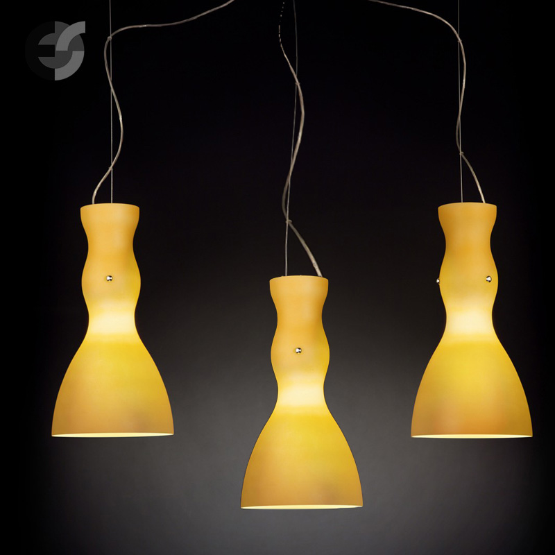Осветително тяло - Полилей SCHERZO, метал, стъкло, жълт, хром, Е27