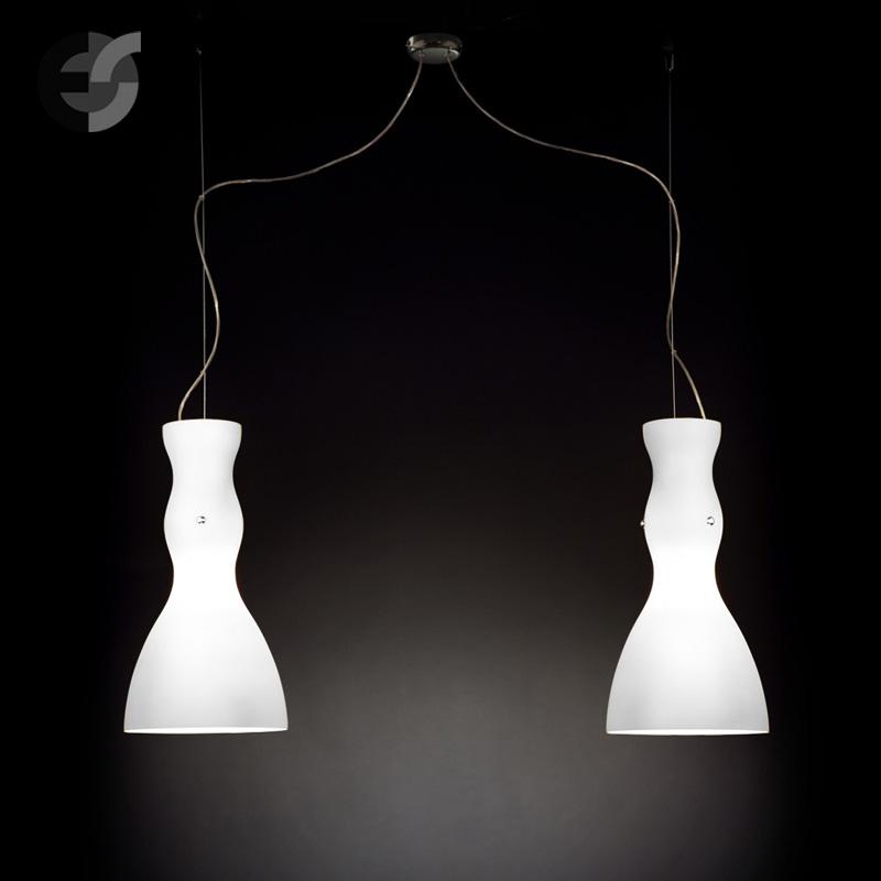 Осветително тяло - Полилей SCHERZO, метал, стъкло, бял, хром, Е27(185.512.30)