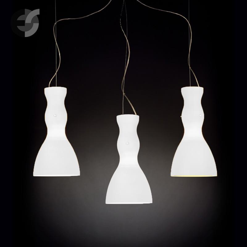 Осветително тяло - Полилей SCHERZO, метал, стъкло, бял, хром, Е27(185.513.30)