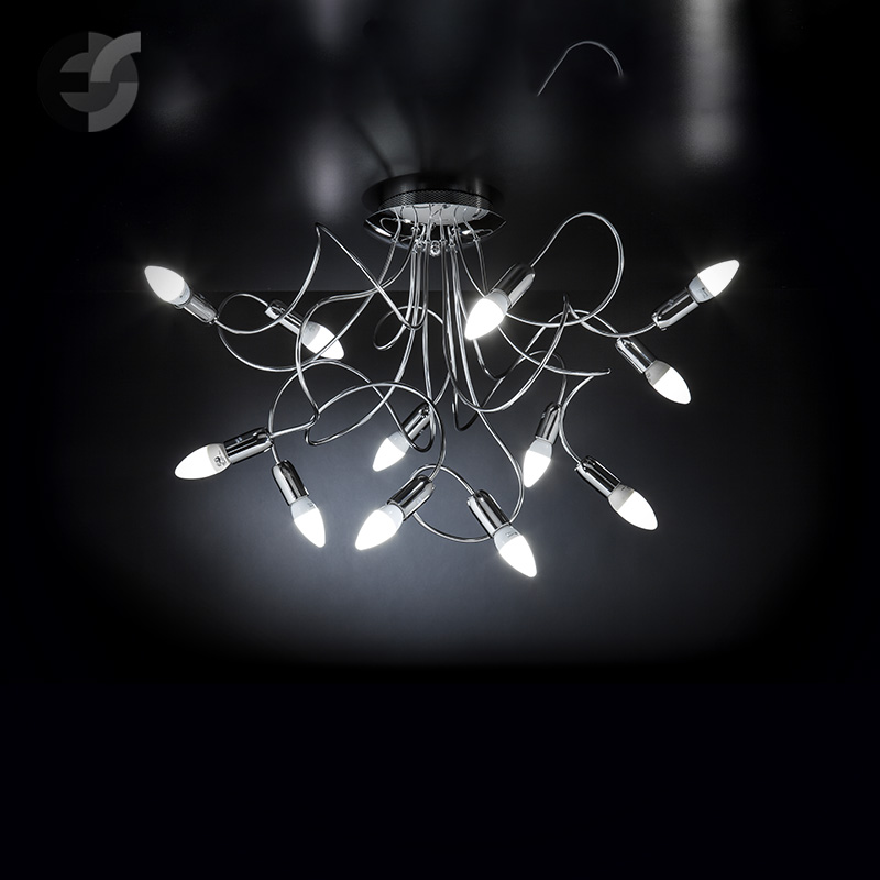 Осветително тяло - елегантен плафон с извити рамена FREE SPIRIT, хром(140.312)