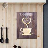 20230147 - Semn decorativ cu iluminat COFFEE