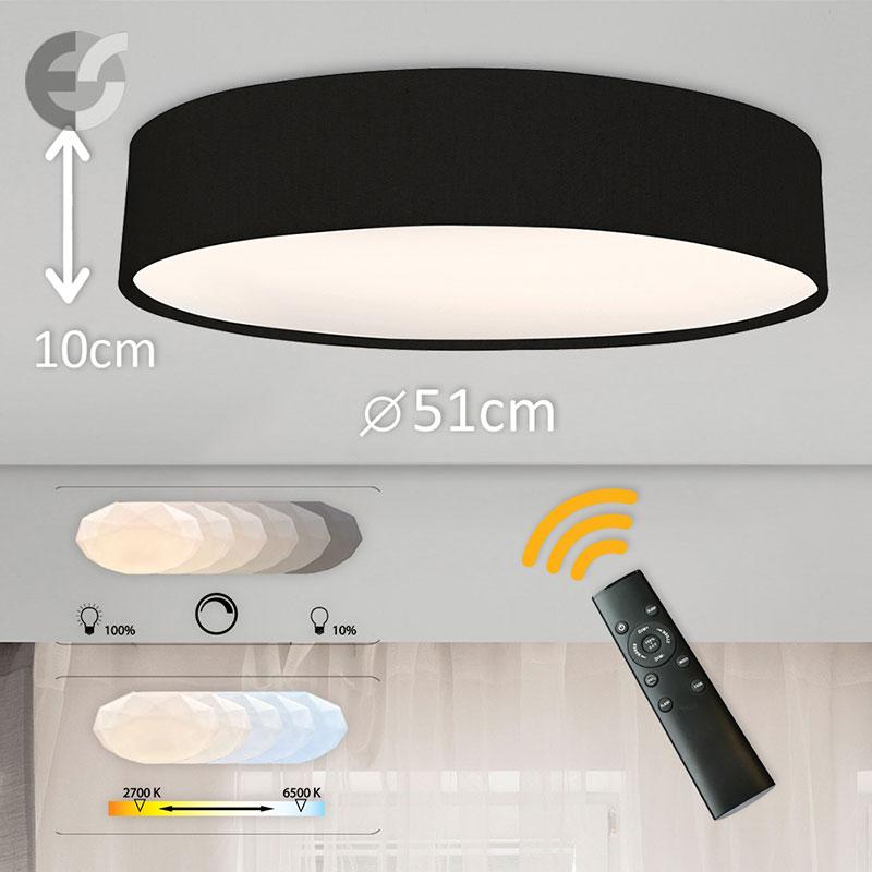 LED Plafon cu telecomanda Supreme 2 510100-BK-42W
