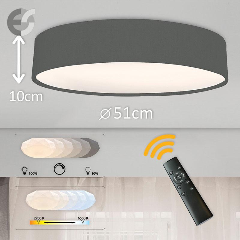 LED Plafon cu telecomanda Supreme 2 510100-GY-42W